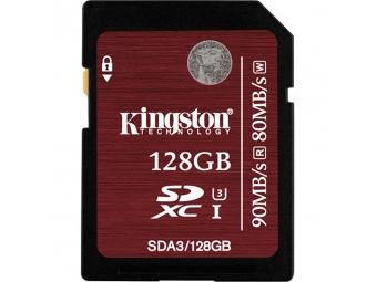 Kingston 128GB SDXC card UHS-I U3 90/80MB/s
