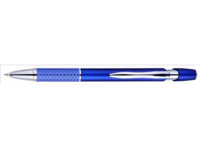 P544.185 Guľôčkové pero plast/kov modré (modrá náplň)
