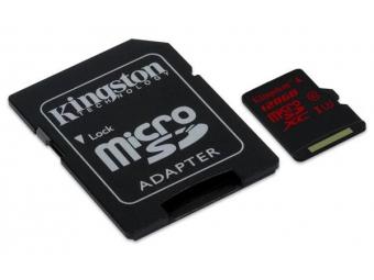 Kingston 64GB microSDXC Class 10 UHS-I (Read 45MB/s, Write 10MB/s + SD adaptér)