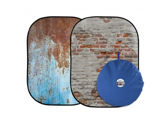 Lastolite Urban Collapsible 1.5 x 2.1m Rusty Metal/Plaster Wall (LB5713)