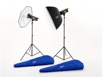 Lastolite Lumen8 Kit F400 + 2 Stands, 1 Umbrella and 1 Softbox EU (LL3500RTEU)