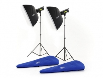 Lastolite Lumen8 Kit F400 + 2 Stands and 2 Softboxes (Rods) EU (LL3509RTEU)