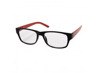 Hama 96267 Filtral okuliare na čítanie, plastové, čierne/červené, +2,0