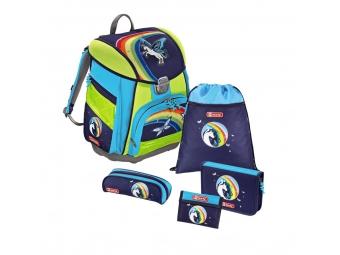 Step by Step 129861 Školský ruksak - 5-dielny set s LED osvetlením, Pegas, certifikát AGR