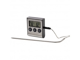 Xavax 111381 digitálny teplomer na potraviny/nápoje, s časovačom, senzor na kábli