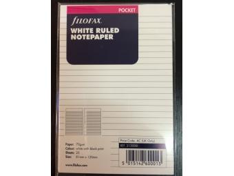 FiloFAX Náhradná náplň do vreckového diára A7,linajková biela (bal=25listov)