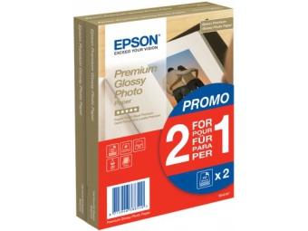 Epson Premium Glossy Photo Paper, (S042167), 10×15cm (bal=2 x 40ks)