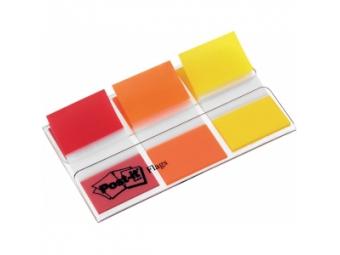 3M Post-It index široký 25x43mm,dispenzor (3x20 lístkov) červená/oranžová/žltá