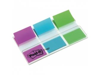 3M Post-It index široký 25x43mm,dispenzor (3x20 lístkov) čfialová/modrá/zelená