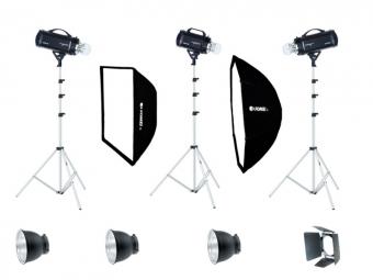 Fomei Digitalis Pro/600/600/400, kit štúdiových bleskov