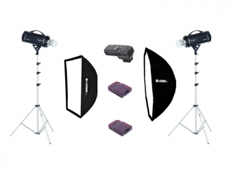 Fomei Digitalis Pro 600/600, kit štúdiových bleskov