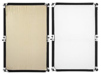 Fomei Quick-Clap Slip 1,5 x 2m Gold-Silver stripe/White