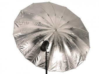 Terronic štúdiový dáždnik BS-185 / čierny-strieborný 185 cm