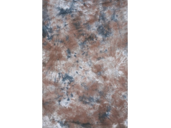 Fomei 2,7x2,9 m BATIK-hnědo-bílo-modrá, fotografické pozadie