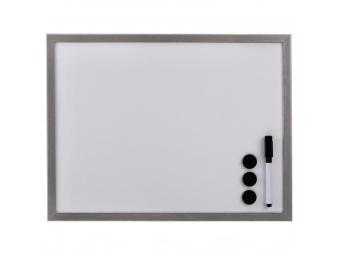 Hama 125981 biela magnetická tabuľa, 60x80 cm, drevená, strieborná