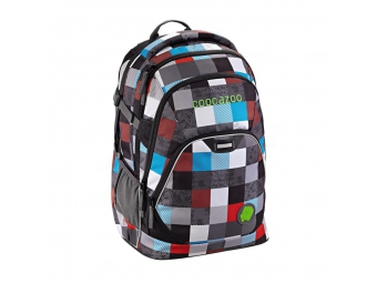 CoocaZoo 129871 Školský ruksak EvverClevver2, Checkmate Blue Red