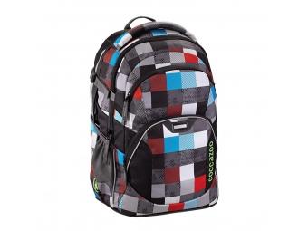 CoocaZoo 129882 Školský ruksak JobJobber, Checkmate Blue Red