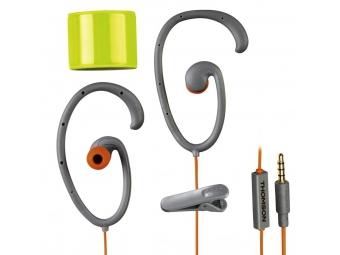Hama 132489 Thomson slúchadlá s mikrofónom EAR5205 Flex, silikónové štuple, klip, šedá/oranžová