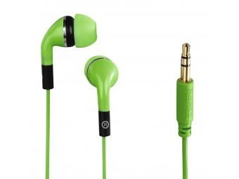 Hama 135637 slúchadlá Flip, silikónové štuple, zelené