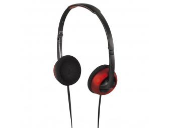 Hama 135647 on-ear slúchadlá Street, skladacie, šedá/červená