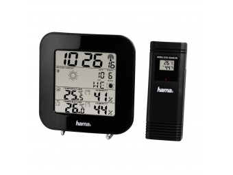 Hama 136222 EWS-200 Weather Station, black