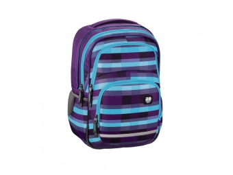 Hama 138304 Školský ruksak All Out Blaby, Summer Check Purple