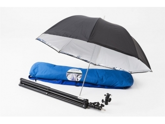 Lastolite Umbrella Kit 72cm + Stand and 2422 Tilthead Shoe Lock (LU2473F)
