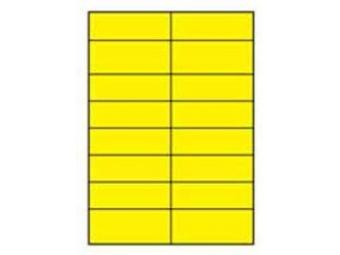 AGIPA Etikety univerzálne 105x37 žlté (bal=100ks)