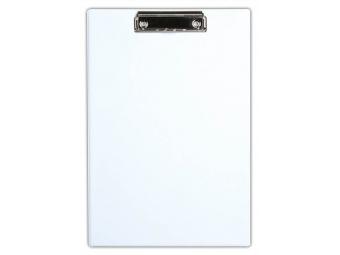 Písacia Doska-podložka A5 s klipom laminovaná biela