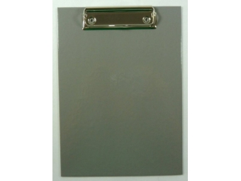 Písacia Doska-podložka A5 s klipom laminovaná sivá