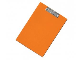 Písacia Doska-podložka A5 s klipom laminovaná oranžová