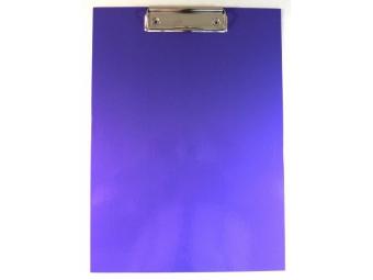 Písacia Doska-podložka A5 s klipom laminovaná fialová