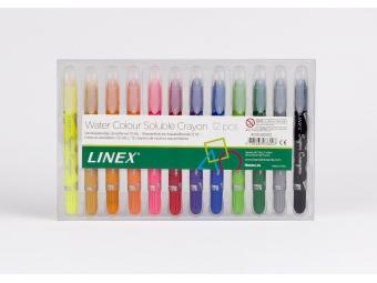 Linex Voskovky 4470 farebné,vodou rozmývateľné,sada 12ks