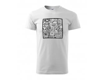Pánske tričko s motívom omaľovánky