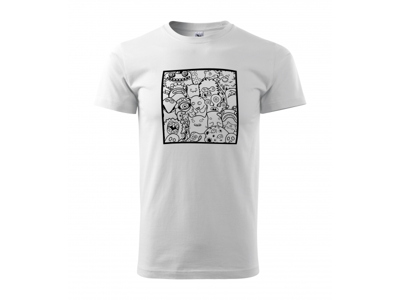 9d703647ef80 Pánske tričko s motívom omaľovánky