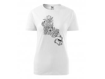 Dámske tričko s motívom omaľovánky