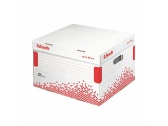 Esselte Archívna škatuľa Speedbox M so skl. vekom biela/červená