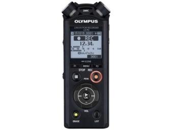 Olympus LS-P2 - Digitálny záznamník + nabíjateľná batéria Ni-MH a adapt. na upevnenie na statív