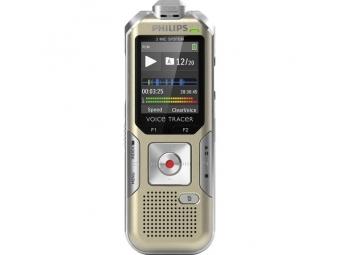 Philips digitálny záznamník DVT6500 - 4GB, USB, microSDHC až 32GB, FM, farebný displej, li-pol batéria