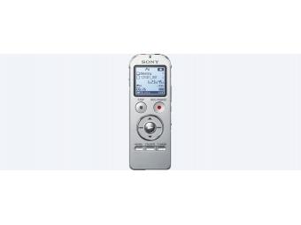 SONY Stereofonny diktafón ICD-UX533 - 4 GB - tri v jednom - Strieborný