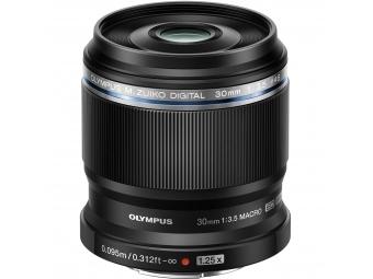 Olympus M.ZUIKO DIGITAL 30mm 1:3.5 Macro čierny + orchanný filter ZADARMO