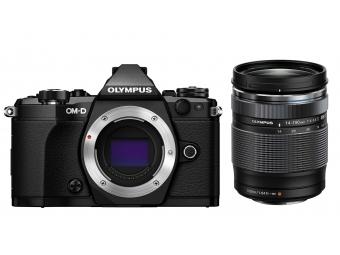 Olympus OM-D E-M5 Mark II Kit 14-150 II čierny/čierny + bateriový grip HLD-8