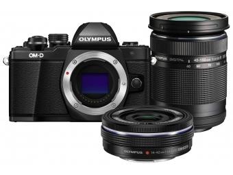 Olympus OM-D E-M10 Mark II Kit 14-42 EZ + 40-150 mm R čierny/čierny/čierny