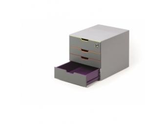 Durable Varicolor Safe Zásuvkový box,4 zásuvky