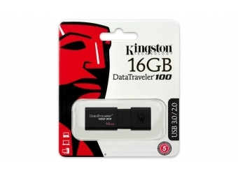 Kingston USB DataTraveler 100 G3 16GB, čierny