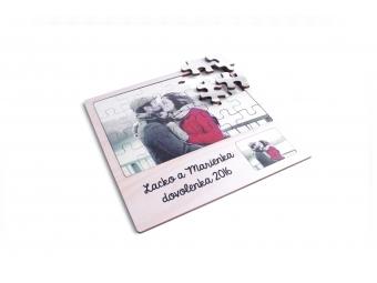 Puzzle s fotkou a venovaním