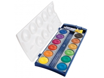 Pelikan Farby vodové K12, 12 farieb + beloba