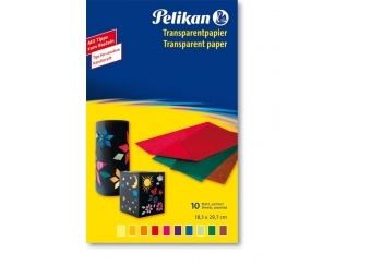 Pelikan Papier farebný, 10 ks, 30 x 18 cm, mix farieb