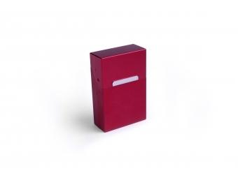 Elegantný hliníkový obal na cigarety - červený matný