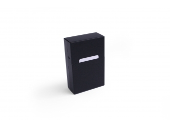Elegantný hliníkový obal na cigarety - čierny matný